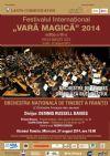 Detalii despre evenimentul Festivalul International Vara magica - Orchestra Nationala de Tineret a Frantei 27 Aug 2014