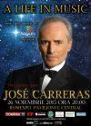 Bilete la Jose Carreras - A Life in Music - Final World Tour - 26 Nov 2015