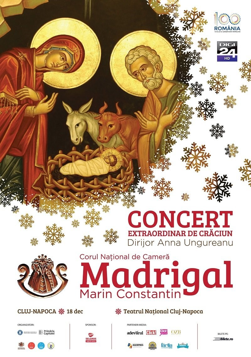 Concert extraordinar de Craciun Corul National de Camera Madrigal - Marin Constantin - Cluj