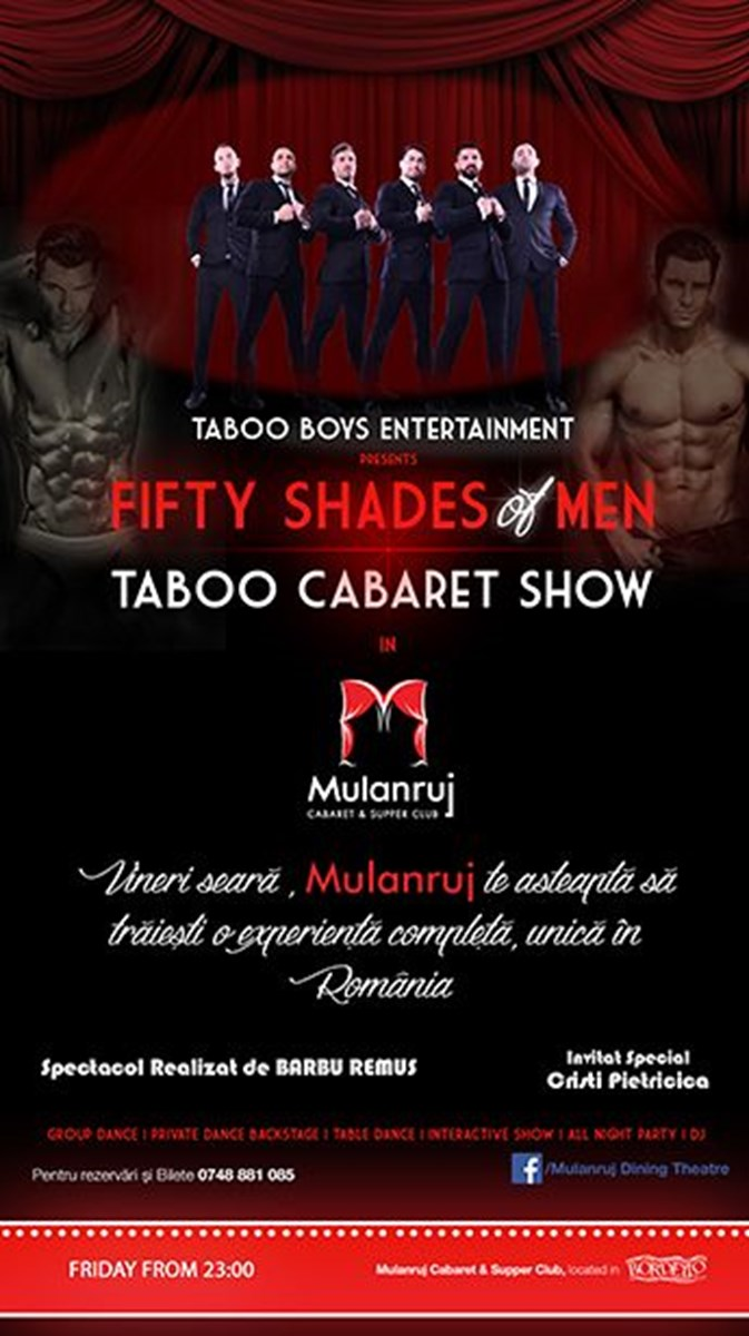 Fifty Shades of Men - Taboo Cabaret Show