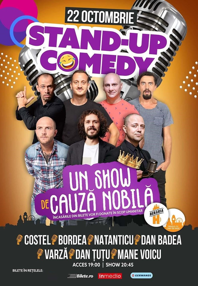 bilete Stand-Up Comedy: Costel, Bordea, Natanticu, Dan Badea & more