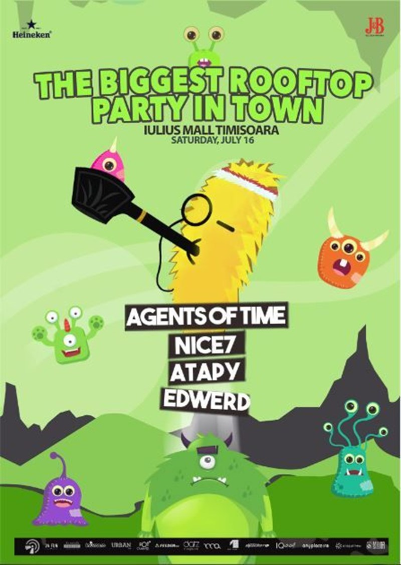 The Biggest Rooftop Party in Town 3rd edition with Agents Of Time, NiCe7, Atapy, Edwerd