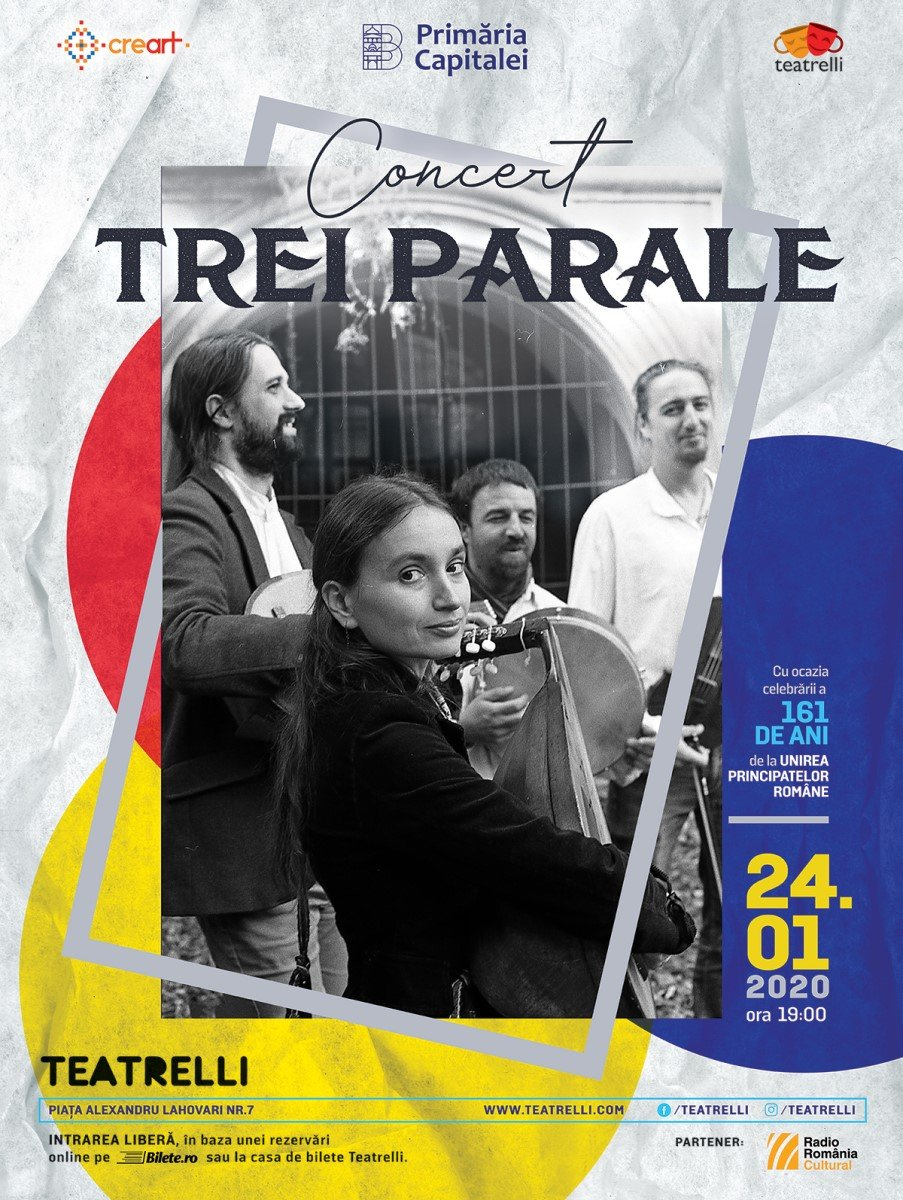 Concert Trei parale - 24 ian 2020