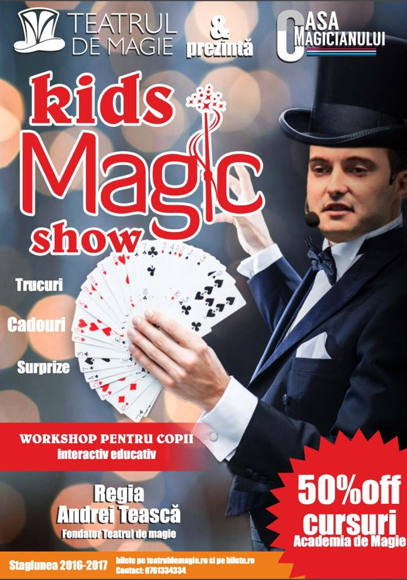Kid's Magic Show&Workshop cu magicianul Emil Dragan
