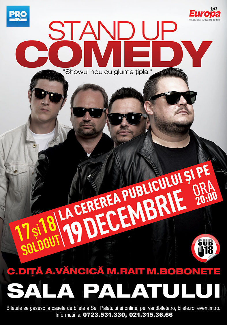 Stand-Up Comedy - Showul nou cu glume tipla