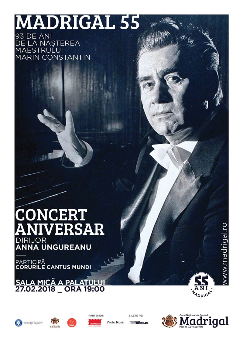 bilete Concert Corul National de Camera Madrigal-Marin Constantin