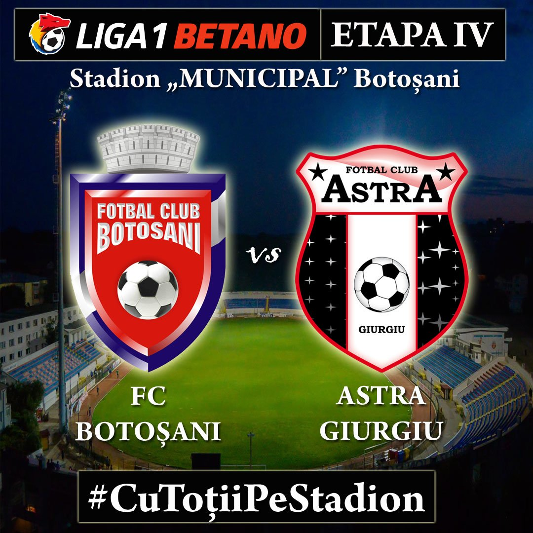 ASTAZI: Astra Giurgiu – FC Botosani, cu Ionut Coza la ...  |Botosani Astra
